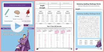 Year 4 Term 2B Week 6 Spelling Pack - Spelling Lists, Word Lists, Spring Term, List Pack, SPaG