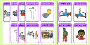 Daily Routine Sequencing Pictures - SEN, Daily Timetable, School Day, Daily Activities, Daily Routine KS1,