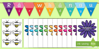 Buzzy Bee Birthdays Display Pack - birthdays, graph, pictograph, statistics, bee, flower, bumblebee, month,
