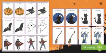 Halloween Memorykarten - Spiel, Verkleidung, Spaß, Oktober, Herbst, Fest, ,German - Spiel, Verkleidung, Spaß, Oktober, Herbst, Fest, ,German