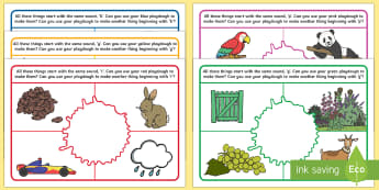 Phase 1 Phonics Colour and Alliteration Playdough Mats - EYFS, Phase 1,Aspect 5, Alliteration, letters and sounds, phonics, rainbow, initial letter sounds, h