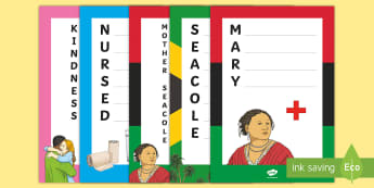 Mary Seacole Acrostic Poems Writing Frames - black history month, ks2, english Resources, activities, poem