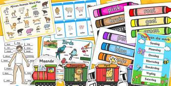 Afrikaanse Opstelpakket - opstel, klaskamer plakkaate