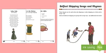 Belfast Skipping Songs and Rhymes Song Lyrics - World Around Us KS2 - Northern Ireland, skipping, songs, rhymes, traditional, Belfast, playground, P