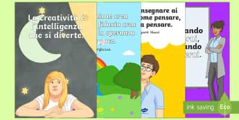 Aforismi Educativi Poster - Poster, educazione, quote, aforismi, italiano, italian