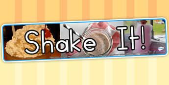 Shake It Photo Display Banner - milk shake, food, drinks