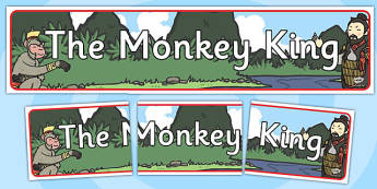 The Monkey King Buddhist Story Display Banner - Monkey, King