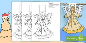 Kersfees Engel Versierings vir die Klaskamer  - Desember, maak, vertoon, vlaggies, kreatief, tradisies