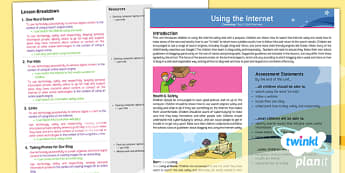 Computing: Using the Internet Year 2 Overview