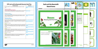 EYFS Jack and the Beanstalk Discovery Sack Plan and Resource Pack - jack, beanstalk, sack