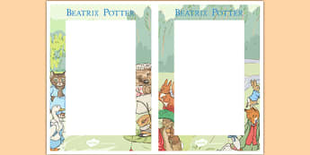 Beatrix Potter Editable Note - beatrix potter, author, editable notes, editable, edit, notes