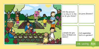 Spring Question Scene and Question Cards - Spring, First day of Spring, Writing, story, questions, comprehension, seasons