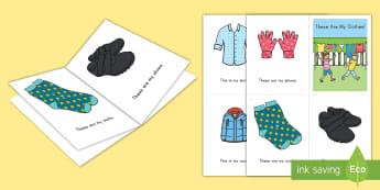 Clothes Emergent Reader - Beginning Reader, Guided Reading, Small Group, ELA, Pre-K, Preschool, Book Buddy, Clothes Unit, Clot