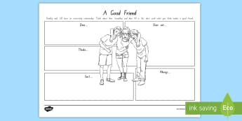 Term 1 Week 2 Year 5 and 6 Chapter Chat A Good Friend Activity Sheet to Support Teaching On There's a Boy in the Girls' Bathroom by Louis Sachar - Louis Sachar, Chapter Chat, Year 5-6, worksheet, There's A Boy In The Girls' Bathroom, Reading, Cl