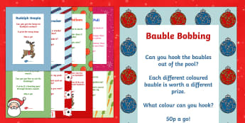 Christmas Fair Activities and Games Poster Pack - PTA poster, christmas fayre, activity, games, poster, pack