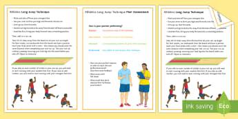Athletics: Long Jump Techniques Card - Olympics, jumping, running, sprint, Distance