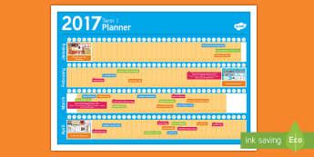 New Zealand Term 1 Calendar Planner - New Zealand, Back to School, new term, new year, planner, planning, calendar, events, dates