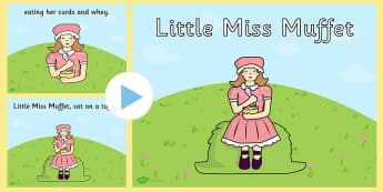 Little Miss Muffet PowerPoint - little miss muffet, nursery rhymes, nursery rhyme powerpoint, little miss muffet nursery rhyme powerpoint, miss muffit