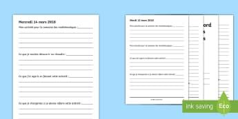 Journal de bord : La semaine des mathématiques - événement, mathématique, calcul, rédaction, trace écrite, cycle 3, cycle 2