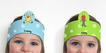 Wheres My Teddy Role Play Headbands - roleplay, stories, props