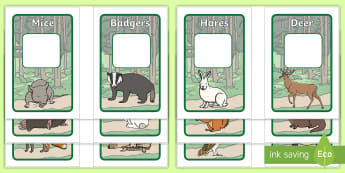 Woodland Group and Table Signs IKEA Tolsby Frame - Woodland Group and Table Signs IKEA Tolsby Frame - Woodland Animals, group signs, group labels, grou