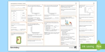 AQA Trilogy Biology Unit 4.4: Bioenergetics Foundation Revision Activity Mat  - respiration, photosynthesis, metabolism, bioenergetics, revision