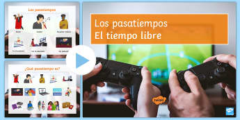 Hobbies and Free Time Activities PowerPoint Spanish - Spanish, Vocabulary, free time, hobbies, activities, powepoint