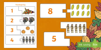 Thanksgiving Counting Puzzle - puzzles, games, game, activity