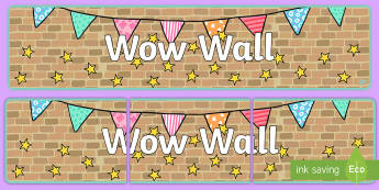 Wow Wall Display Banner - wow wall, display banner, banner, display, banner for display, display header, header for display, display header, class display