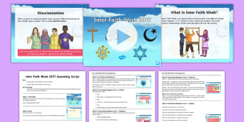 KS2 Inter Faith Week Assembly Pack - diversity, our community, discrimination, religion, beliefs.