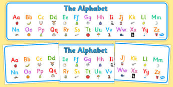 Alphabet Display Banner - alphabet, display banner, display, banner