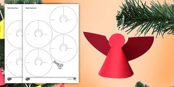 Engele Papier Kuns  - Desember, fees, vier, kreatief, knip, vou, maak