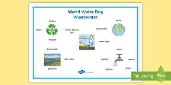 World Water Day 2017 Word Mat - CfE World Water Day (22nd of March) waste water, water, ,Scottish