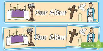 Our Altar Display Banner-Irish
