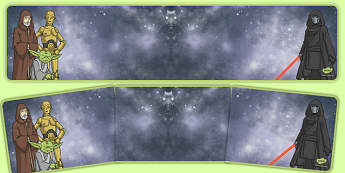 Space Wars Themed Editable Display Banner - space wars, star wars, editable, display, banner