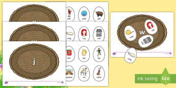 Phase 3 Easter Egg Sorting Phonics Game - EYFS, Early Years, KS1, Key Stage 1, Easter, phonics, Letters and Sounds, phase 3, letter recognitio