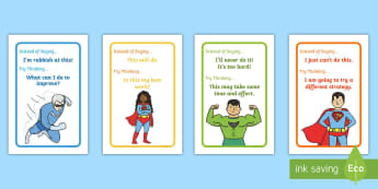Superhero Themed Developing Growth Mindset IKEA Tolsby Frame  - Developing Growth Mindset Display Pack - Growth, Mindset, Displays,positive thinking, growth minset,