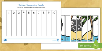 Pirate Flag 1-10 Number Sequencing Puzzle - pirate, pirates, pirate flag, pre-k math, kindergarten math, number sequencing, number sequencing pu