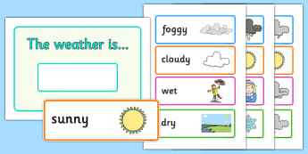 Weather Classroom Display - weather, today, today's weather, calendar, display, sign, poster