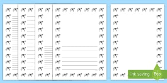 Cow Portrait Page Borders- Portrait Page Borders - Page border, border, writing template, writing aid, writing frame, a4 border, template, templates, landscape