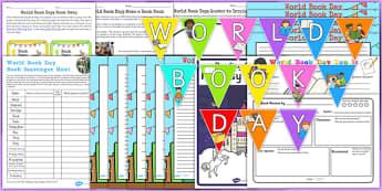 Top 10 World Book Day Resource Pack - top ten, resource pack, world book day