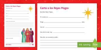 Letter to the Three Wise Men Christmas Worksheet / Activity Sheet Spanish - writing, future, christmas, creativity, develop, ideas