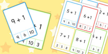 Plus 1 Peg Cards to 10 - plus 1, peg, cards, 10, numeracy, maths