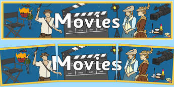 Movies Display Banner - movies, films, video, display, filmaking, filming, cinema