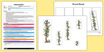 Beanstalk Order EYFS Busy Bag Plan and Resource Pack to Support Teaching on Jasper's Beanstalk - height, length, order, mathematics, EYFS