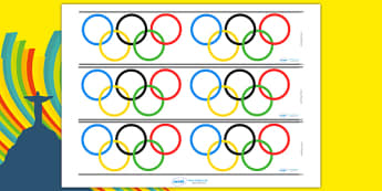 The Olympics Olympic Rings Display Borders - Olympic Rings, display border, classroom border, border, Olympics, Olympic Games, sports, Olympic, London, 2012, activity, Olympic torch, flag, countries, medal, mascots, flame, compete, events, tennis, at
