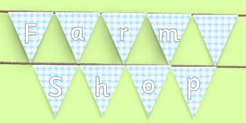 Farm Shop Display Bunting - farm shop, display bunting, display, bunting, farm, shop