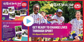 Sport Relief 2018 Primary Whole School Assembly Pack - sport relief, fund raising, sport, raise money, step challenge,