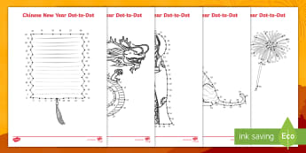 Chinese New Year Numbers to 50 Dot to Dot Activity Sheet - Lunar New Year, Celebrations, Traditions, Singapore, January, Important events