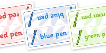 Editable Class Group Table Signs (Pens) - Pen, pens, books, group signs, group labels, group table signs, table sign, teaching groups, class group, class groups, table label